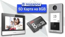 В Подарок Карта Памяти Hikvision на 8GB